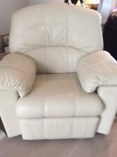 G-Plan Ivory / Cream Leather Large Reclining ArmChair