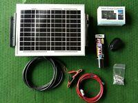 10W PV SOLAR PANEL FULL KIT CARAVAN MOTORHOME CAMPER 12v cable regulator bracket
