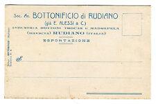 cartolina RUDIANO BRESCIA CHIARI BOTTONIFICIO FABBRICA BOTTONI PUBBLICITà 1920