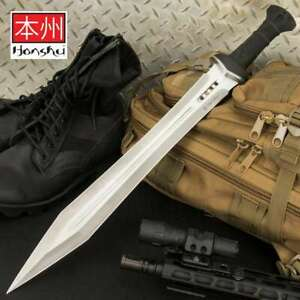 "25"" HONSHU GLADIATOR Greek Roman SWORD MACHETE Knife Gladius Medieval w Sheath"