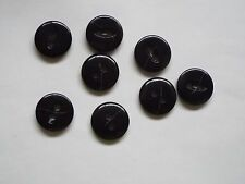 8pc 23mm Gloss Black Chunky Suit Coat Cardigan Knitwear Button 4894
