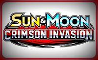 XY Sun & Moon CRIMSON INVASION Booster Code Cards RAPID ~ Pokemon Online Codes