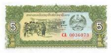 Laos 5 Kip Nd. 1979P 26a Serie ca Replacemet que No Ha Circulado Billetes LV1017