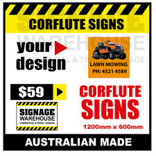 Custom Corflute Sign - Corflute 600mm x 1200mm - by Signage Warehouse
