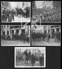 BELGIQUE GUERRE WWI Gand 5 Photos Retraite Victoire Reine Bernheim Défilé 14-18