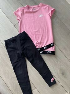 Nike girls top and tight set sz 6