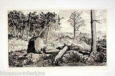 "MAX KLINGER 1881 ""Simplicius in der Einöde"" Original Radierung Intermezzi Opus"