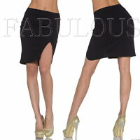 New Trendy Mini Skirt Size 10 8 S M Front Split Wrap Look Party Casual Summer