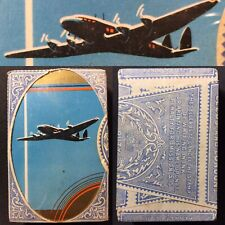 Historic Airplane Aviation Sealed Antique Playing Cards Gold Edged Tax Wrapper