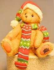 Cherished Teddies: Bear In Scarf - 913855 - Stocking Holder