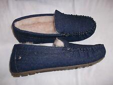 EMU Cairns Denim Pantofole Indigo UK 7 EURO 40 NUOVO