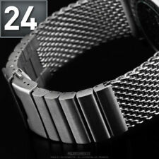 STAINLESS STEEL BRACELET WATCH STRAP BAND 24mm FOR BREITLING / Brushed