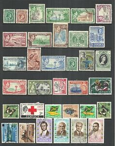 JAMAICA      VARIOUS USED ISSUES   1938 to 1970 (A)       CV $15.05