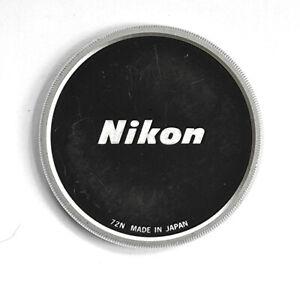 Vintage Screw on Nikon 72 mm. metal Lens Cap