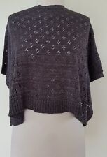 DKNY Charcoal/Silver Metallic Knit Jumper Top Size 6 BNWT