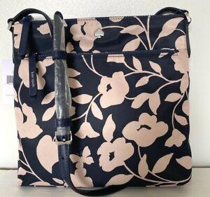 New Kate Spade Jae Garden Vine flat crossbody Nylon handbag Nightcap multi