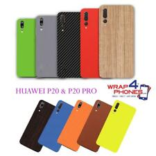 Carbon Leather Wood Skin Wrap Sticker Decal Case Cover Huawei P20 & P20 PRO