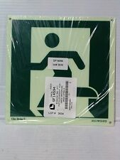 "Lawson/Glo Brite Photoluminescent Left Running Man Symbol Sign. 8"" x 8""(LS092-1)"