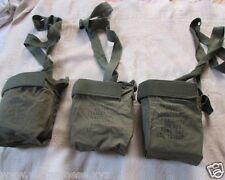 Vietnam War_US ARMY_ M60 machine _Lot  3 ammo pouches