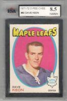 1971-72 O-Pee-Chee #80 Dave Keon | KSA Graded NM/MT+ 8.5 | Toronto Maple Leafs