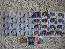 PANINI STICKERS  champions league 2012 2013 VALENCIA COMPLETE SET 2011