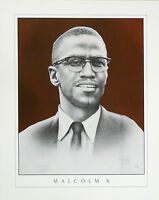 """MALCOLM X"" Print, Hand signed, limited edition, by Romeo Lopez"