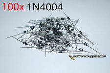 1N4004 Rectifier Diode (100 pcs) 1 Amp 400 Volt, US Fast Shipping