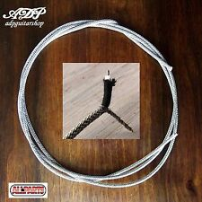 FIL BLINDE pour CABLAGE controle GUITARE VINTAGE cloth Shield wire 22AWG 1 Metre