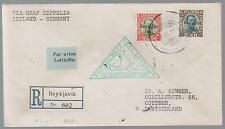 1931 Iceland Graf Zeppelin Cover to Cottbus Germany LZ 127  #C9 & C11