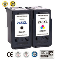 2 PK For Canon PG-245XL CL-246XL Ink Cartridge PIXMA MG2520 MG2522 MG2550 MG2950