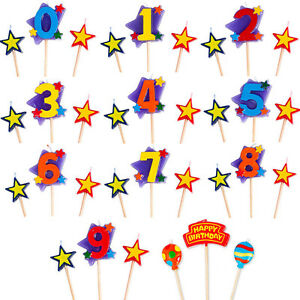 Birthday Cake Toppers Number Candles Party Candle Numbers Girls Boys