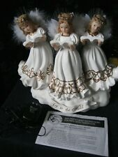 RARE!!! 2003 Christmas Fiber Optic Color-Changing  TRIO of  Angels  ELECTRIC