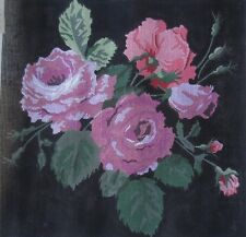 hp handpainted NEEDLEPOINT canvas roses 13CT heritage house