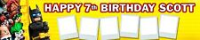 LEGO BATMAN MOVIE  PERSONALISED BIRTHDAY BANNERS PACK OF 2 WITH PHOTOS