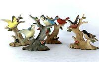 4 Vtg 1980 Enesco Birds on Branches Figures Cardinal Blue Jay Robin - Hong Kong