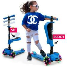 Hurtle Hurfs56 3 Wheeled Scooter for Kids - 2-in-1 Sit/Stand, Adjustable Height