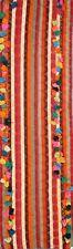ANTIQUE Striped Decorative TRIBAL Kilim Kashkoli Dhurrie Runner Rug WOOL 4x15