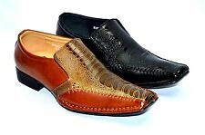 Mens Dress Formal Shoes Loafers Slip On Fashion black or Brown Shoes-exp 08