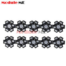 20PCS 20MM 1W 3W 5W high Power LED Universal Aluminum Plate Heat Sink Black