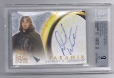 Lord of the Rings LOTR David Wenham Faramir autograph auto card BGS 9 AUTO 10