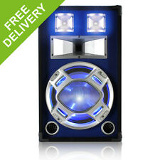 Skytec Black/Blue 12 Inch Bedroom Speaker 600W Max Sound Reactive Blue LED