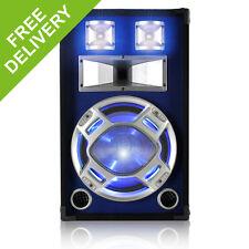 Skytec Black/Blue 12 Inch Bedroom Speaker 600W Max Sound Reactive Blue LED