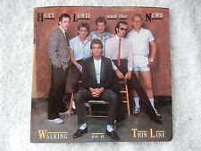 "Huey Lewis ""Walking On A Thin Line/The Only One"" Picture Sleeve 45 RPM Record"