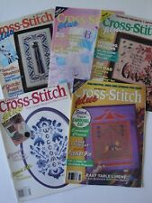 Cross Stitch Plus Lot of 5 Magazines Patterns for Dad, Southwest Style, Baby Cat