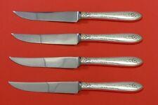 Margaret Rose by National Sterling Silver Steak Knife Set 4pc HHWS Custom