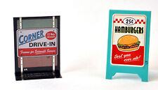 Hallmark Kiddie Car Classics Corner Drive-in Sidewalk Signs Qhg3616