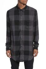 The Rail Yarn Dyed Plaid Shirt Grey Black Buffalo