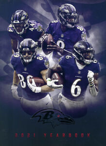 2021 BALTIMORE RAVENS OFFICIAL YEARBOOK LAMAR JACKSON BRAND NEW