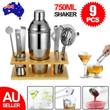9X Cocktail Shaker Set Maker Mixer Martini Spirits Bar Strainer Bartender Kit