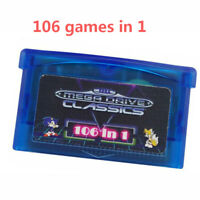 106 in 1 Games Card Cartridge GBA Multicart for Game Boy Advance GBA SP NDS BUS